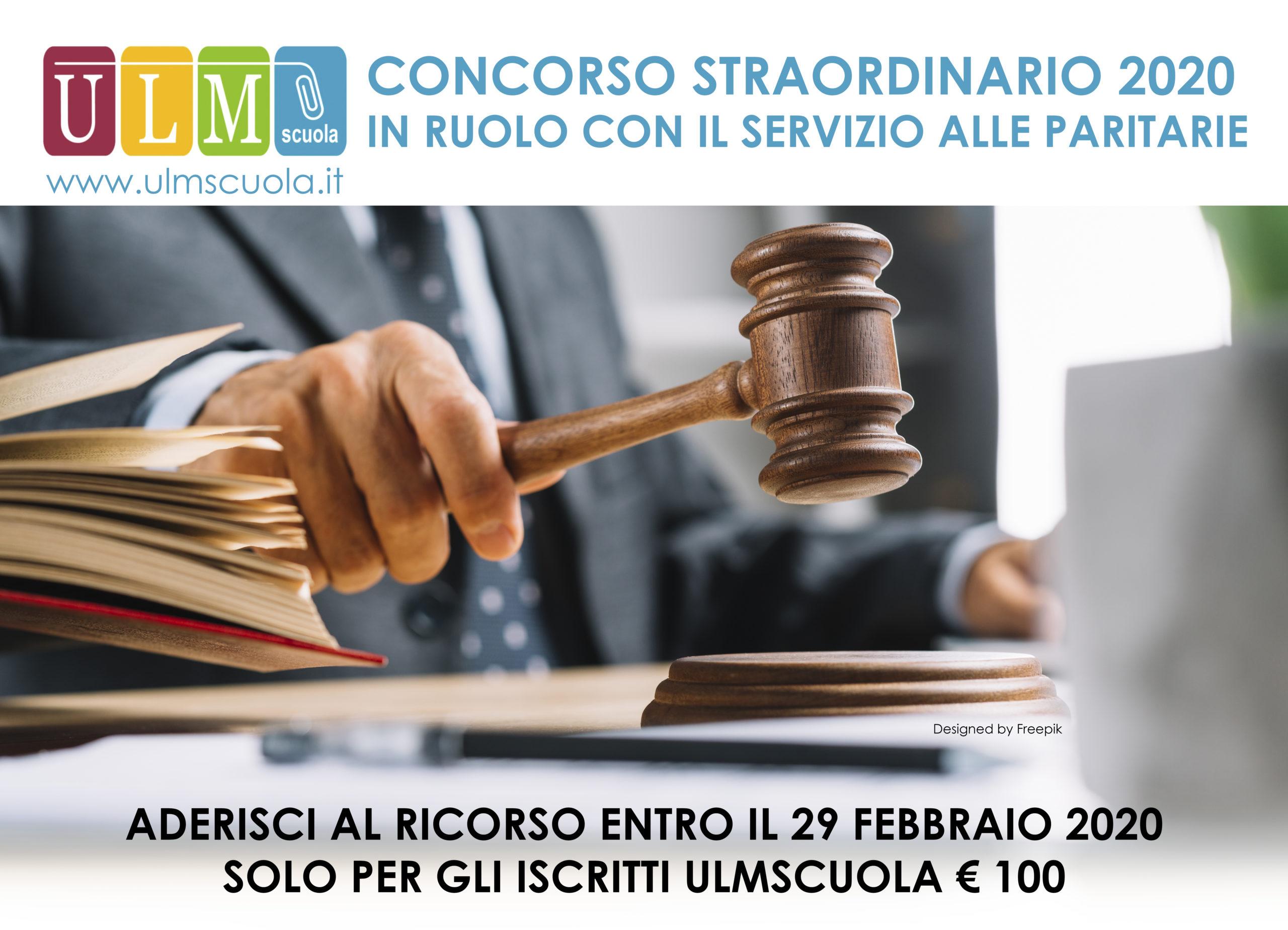 PARTECIPA PER IL RUOLO AL CONCORSO STRAORDINARIO 2020 CON SERVIZIO PARITARIA